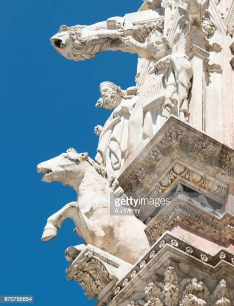 Architectural detail of Siena cathedral