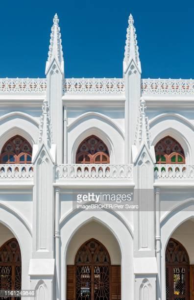 architectural detail of st. thomas cathedral basilica, san thome church, chennai, india - chennai stock pictures, royalty-free photos & images