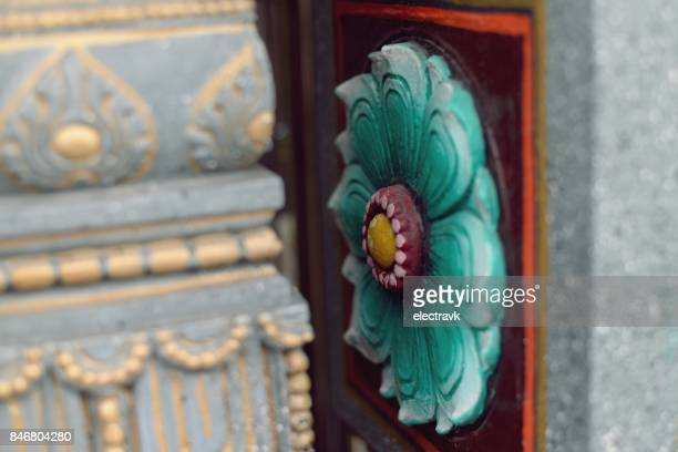 architectural detail of temple - theravada stock pictures, royalty-free photos & images