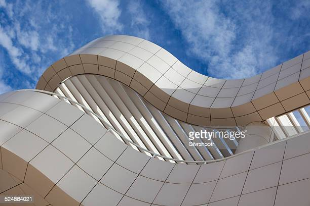 Architectural detail of the Getty Museum in Los Angeles