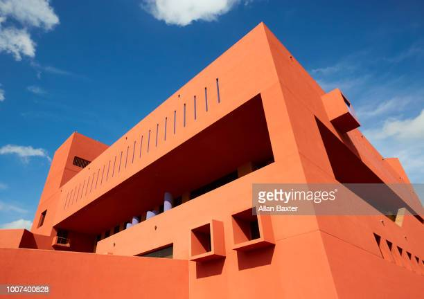 Architectural detail of the Mexican modernist 'San Antonio central Library