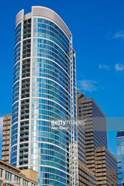 Architectural detail of the 'Murano' residential skyscraper in Philadelphia