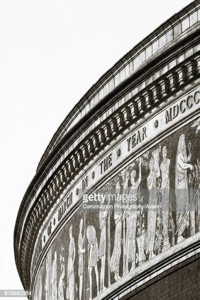 Architectural detail of the Royal Albert Hall London United Kingdom