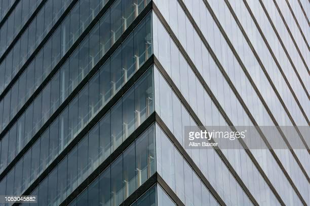 Architectural detail of the 'Stadttor' skyscraper in Dusseldorf