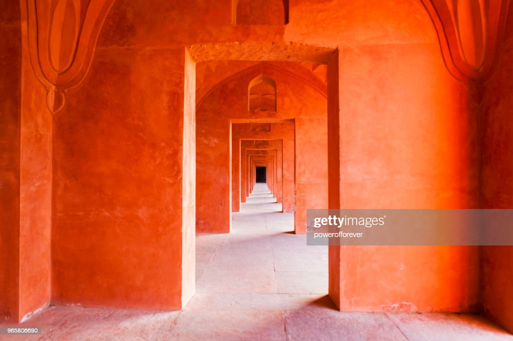 Architectural Detail of the Taj Mahal in Agra, India : Stock Photo