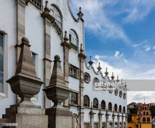 Architectural detail of THE UNIVERSITY OF GUANAJUATO Guanajuato Mexico