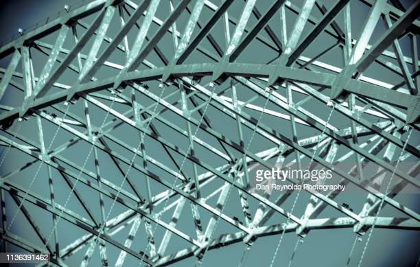 architectural detail -urban bridge - memphis bridge stock photos and pictures