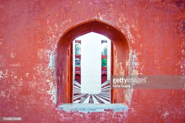 architectural details - jantar mantar, new delhi, india - ジャンタルマンタル ストックフォトと画像