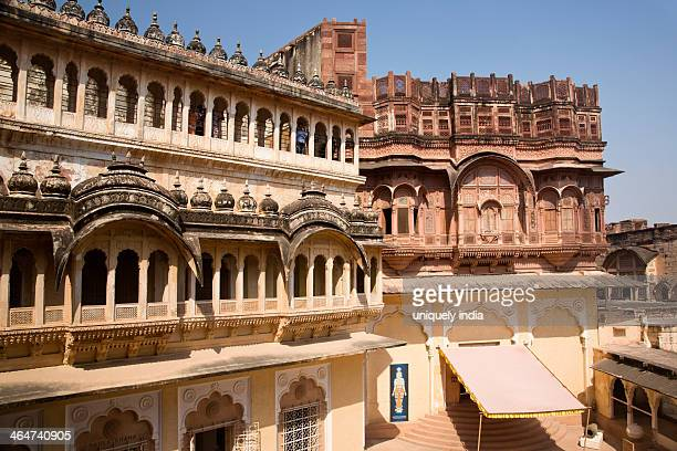 Architectural details of a fort, Meherangarh Fort, Jodhpur, Rajasthan, India