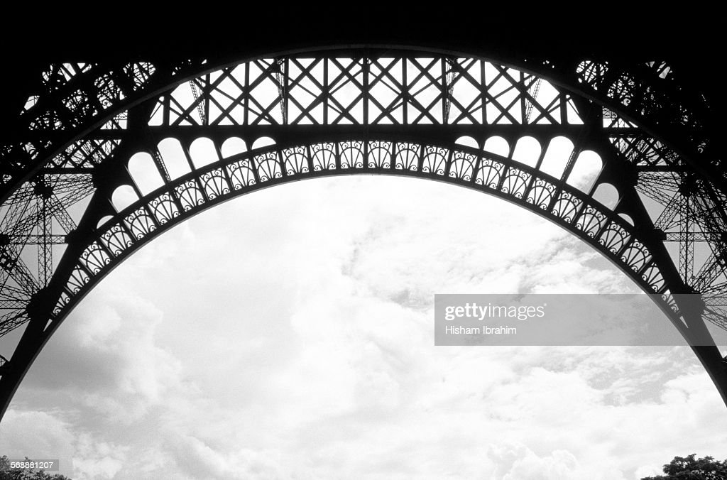Architectural details of the Eiffel Tower, Paris : Stock Photo