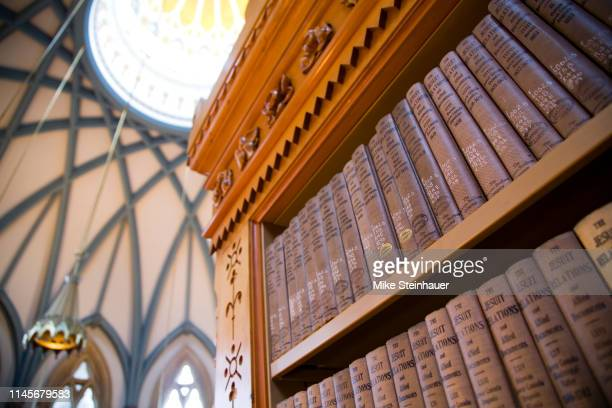 architectural details of the library of parliament, parliament hill, ottawa - ottawa stock pictures, royalty-free photos & images