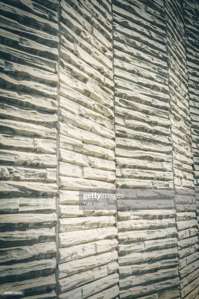 Architectural details of wooden wall : Stock-Foto