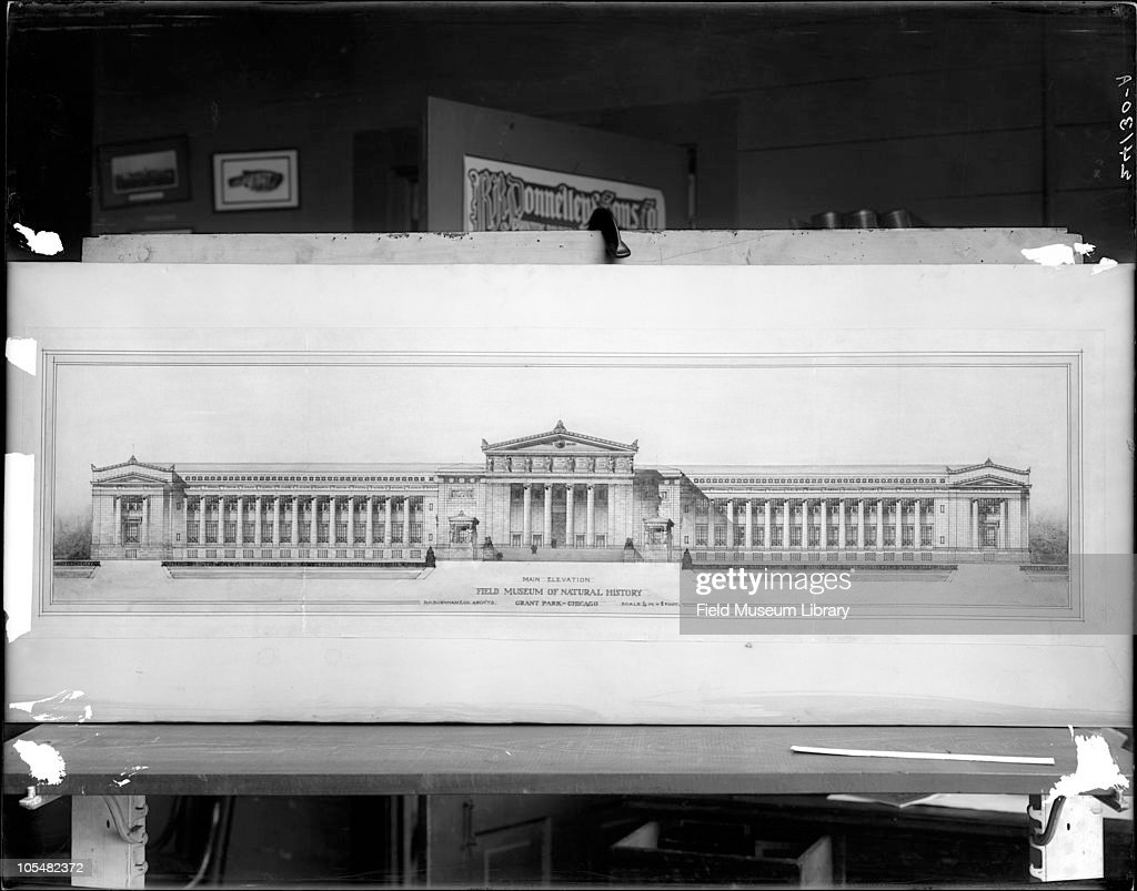 Architectural drawing pictures getty images architectural drawing or blueprint field museum exterior of building proposal made for field malvernweather Image collections