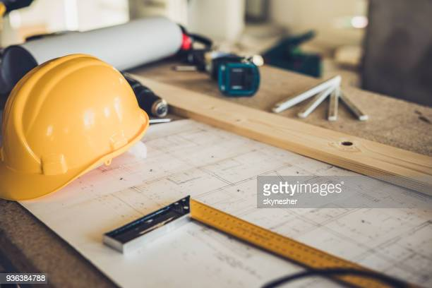 architectural equipment at construction site! - design stock pictures, royalty-free photos & images