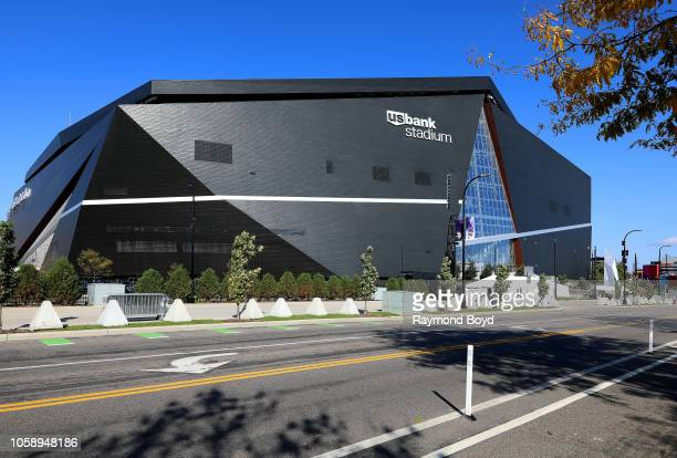 Architectural firm HKS Inc's US Bank Stadium home of the Minnesota Vikings in Minneapolis Minnesota on October 13 2018 MANDATORY MENTION OF THE...