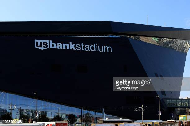 Architectural firm HKS, Inc.'s U.S. Bank Stadium, home of the Minnesota Vikings in Minneapolis, Minnesota on October 13, 2018. MANDATORY MENTION OF...