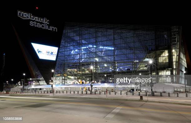 Architectural firm HKS Inc's US Bank Stadium home of the Minnesota Vikings football team in Minneapolis Minnesota on October 12 2018 MANDATORY...