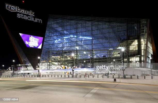 Architectural firm HKS, Inc.'s U.S. Bank Stadium, home of the Minnesota Vikings football team in Minneapolis, Minnesota on October 12, 2018....