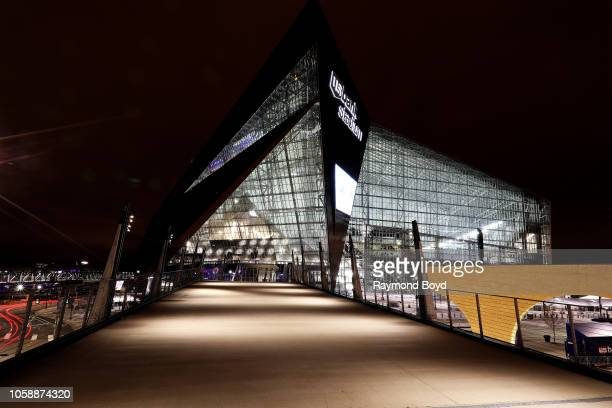 Architectural firm HKS Inc's US Bank Stadium home of the Minnesota Vikings football team in Minneapolis Minnesota on October 14 2018 MANDATORY...