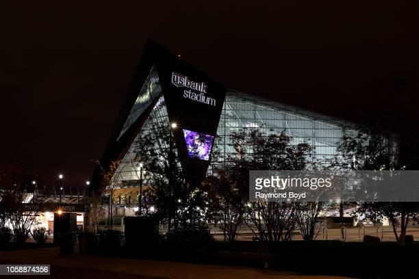 Architectural firm HKS, Inc.'s U.S. Bank Stadium, home of the Minnesota Vikings football team in Minneapolis, Minnesota on October 14, 2018....