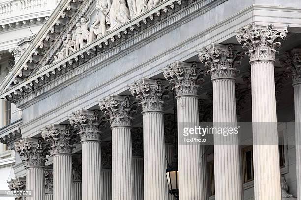architectural frieze, capital building, washington d.c. - government building stock pictures, royalty-free photos & images