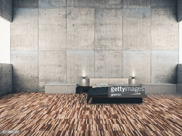 Architectural interior bedroom concept