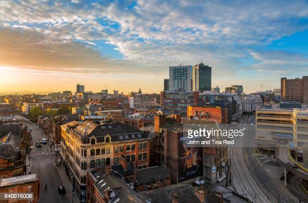 architectural layers - manchester uk stock photos and pictures