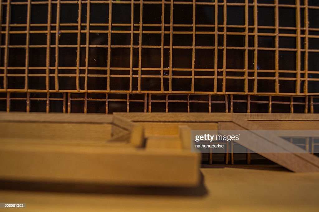 Architectural model close-up : Stock Photo