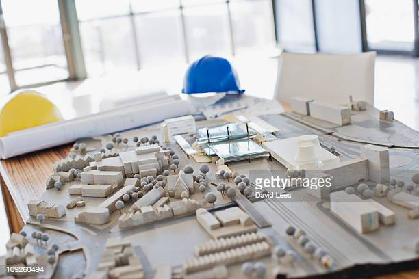 architectural model in an  office - architectural model stock pictures, royalty-free photos & images