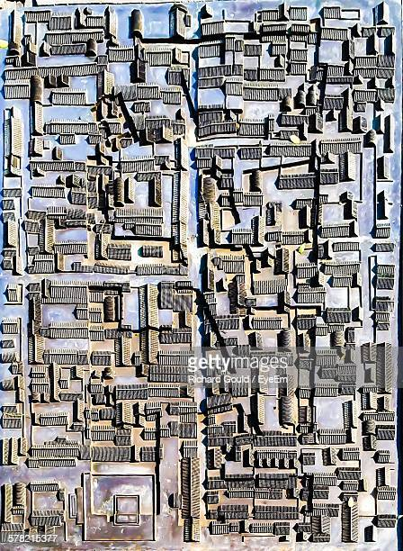 Architectural Model On City