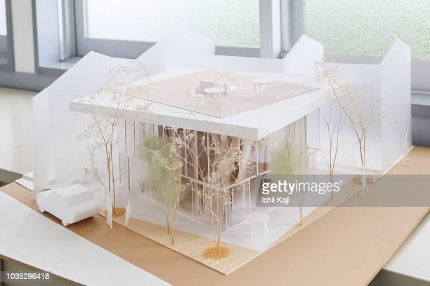 architectural model - modello dimostrativo foto e immagini stock
