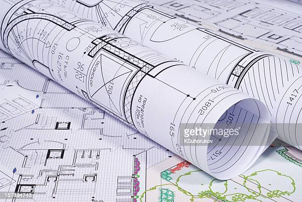 architectural plans - conspiracy stock pictures, royalty-free photos & images
