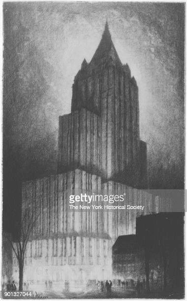 Architectural rendering of New York Life Insurance Company 51 Madison Avenue New York New York 1929 Cass Gilbert architect