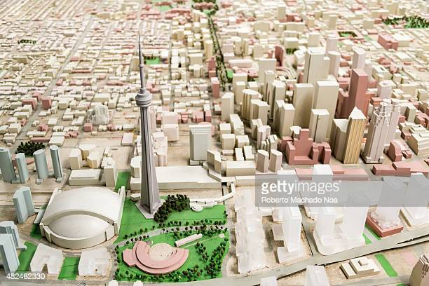 Architectural scale model of city of Toronto
