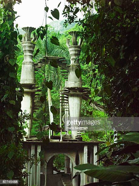 architectural structure in the forest - las posas stock pictures, royalty-free photos & images