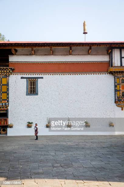 architectural structures in paro, bhutan - paro district stock pictures, royalty-free photos & images
