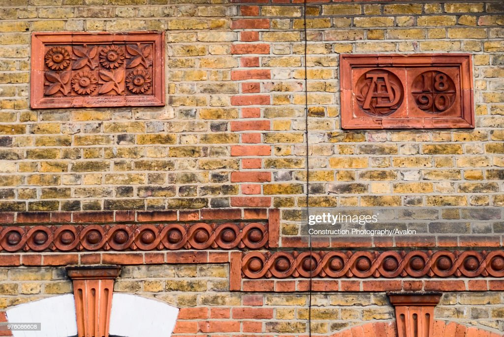 62949494319b Architectural Victorian decorative fascia detail, Essex, UK : News Photo