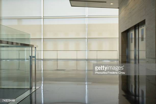 Architectural view of office building interior