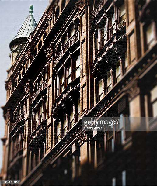 Architecturally detailed building in Noho Manhattan Corner of Broadway and Bleeker