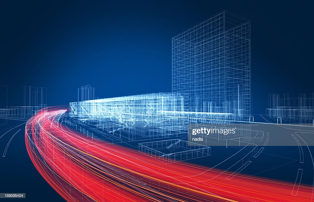 3D architecture abstract : Stock Photo