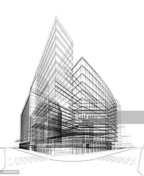 3D architecture abstract