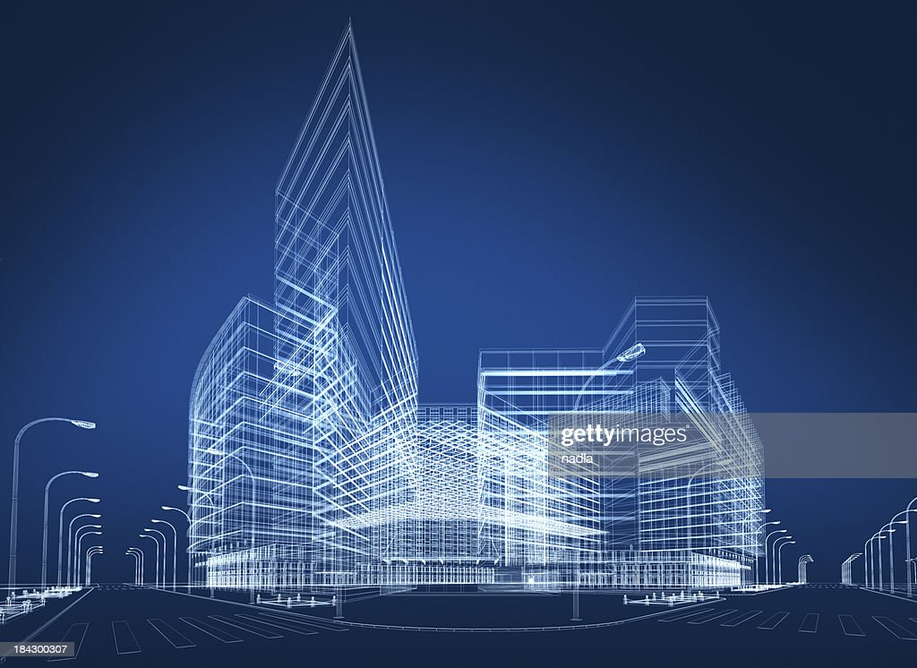 3 D abstrakt Architektur : Stock-Foto