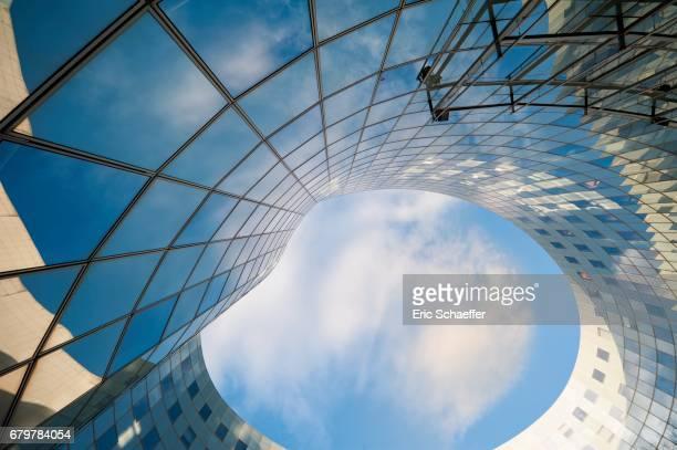 architecture abstraite bleue