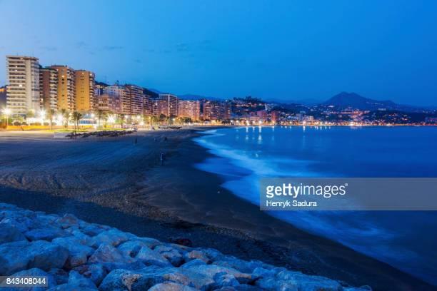 Architecture and beach in Malaga