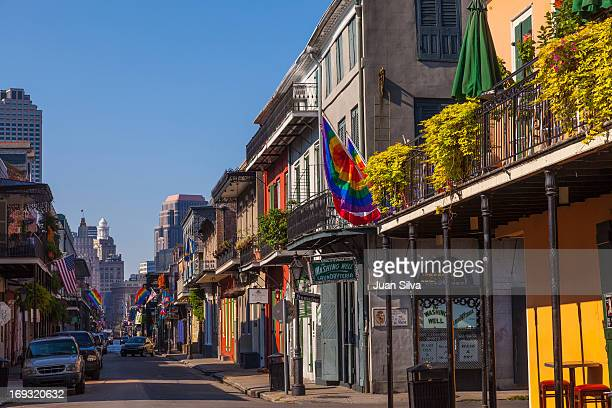 architecture and buildings in old french quarter - new orleans french quarter stock photos and pictures