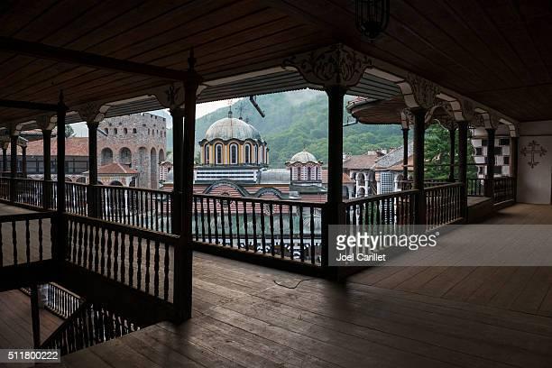 Architektur und die Kirche im Kloster Rila in Bulgarien