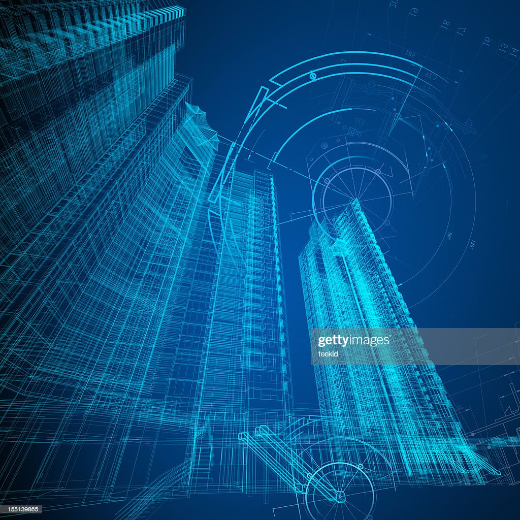 Architecture Blueprint : Stock Photo
