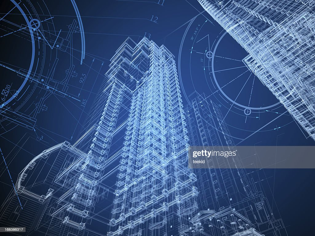 Architecture Blueprint : Stockfoto