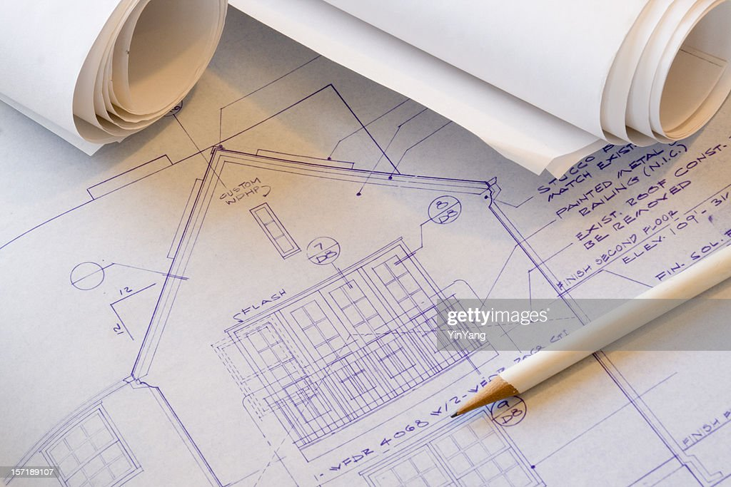 Architecture blueprint plan for design and engineering construction architecture blueprint plan for design and engineering construction drawing stock photo malvernweather Images