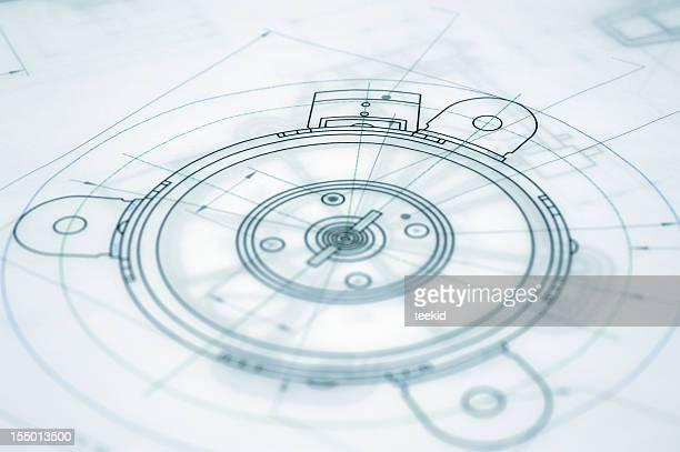 Architektur Blueprint-Maschinenbau Technische Zeichnung